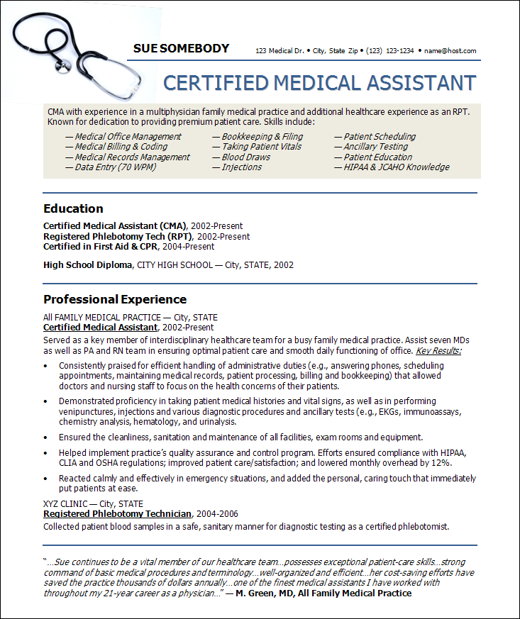 webdesignsinkcomimagesresume20samplescertifie - Sample Medical Assistant Resume